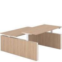FORZA Duo bureau met twee panelen (Elektrisch in hoogte verstelb..